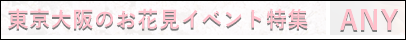 2018東京大阪お花見イベント街コンパーティーならANY